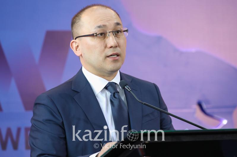 Information & Social Development Minister Abayev speaks at AMW
