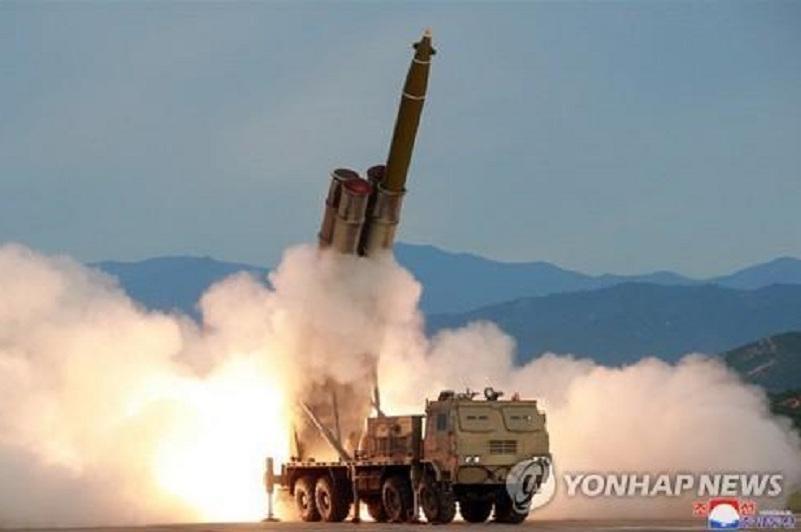 North Korea tests super-large multiple rocket launcher
