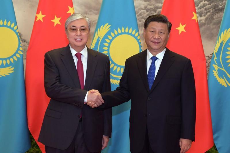 Kassym-Jomart Tokayev and Xi Jinping have talks