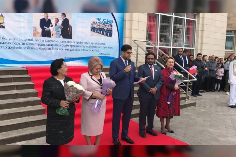 UAE Ambassador visits students at Sheikh Khalifa bin Zayed School in Kazakhstan