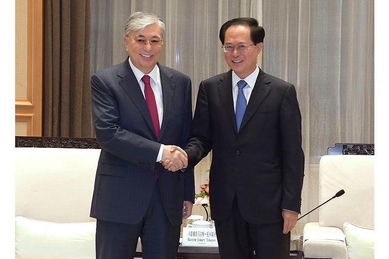 Президент РК встретился с секретарем комитета Компартии Китая провинции Чжэцзян