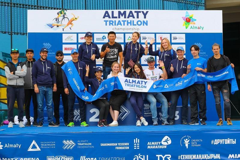 Определились победители чемпионата Алматыпо триатлону