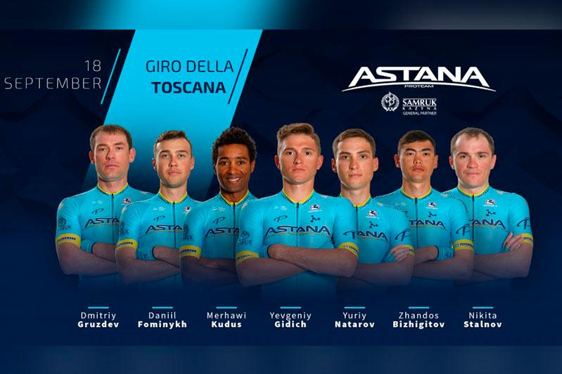 Giro della Toscana 2019. Astana announces its team roster