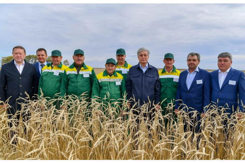 托卡耶夫总统视察北哈州奶制品企业