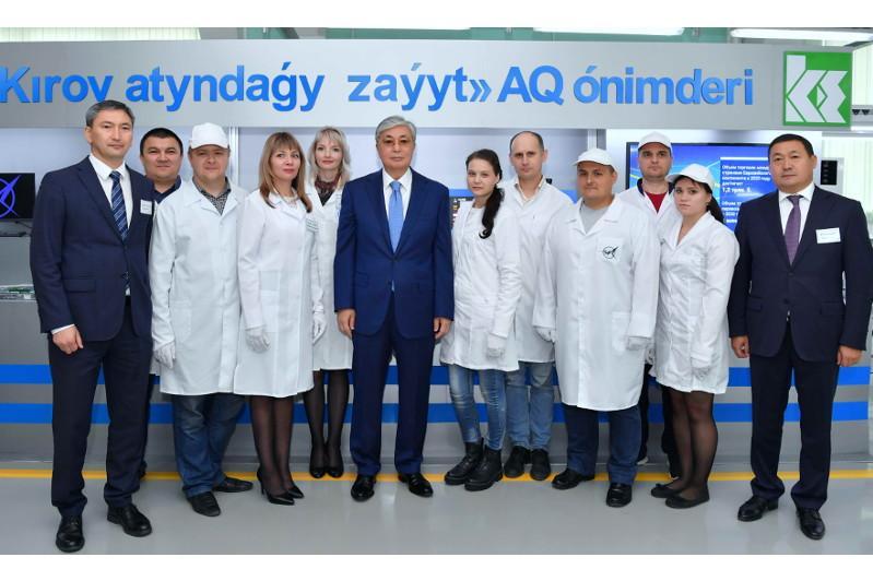 Касым-Жомарт Токаев посетил завод имени С.М. Кирова в Петропавловске