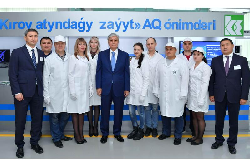 Head of State visited S.M.Kirov Plant in Petropavlosk