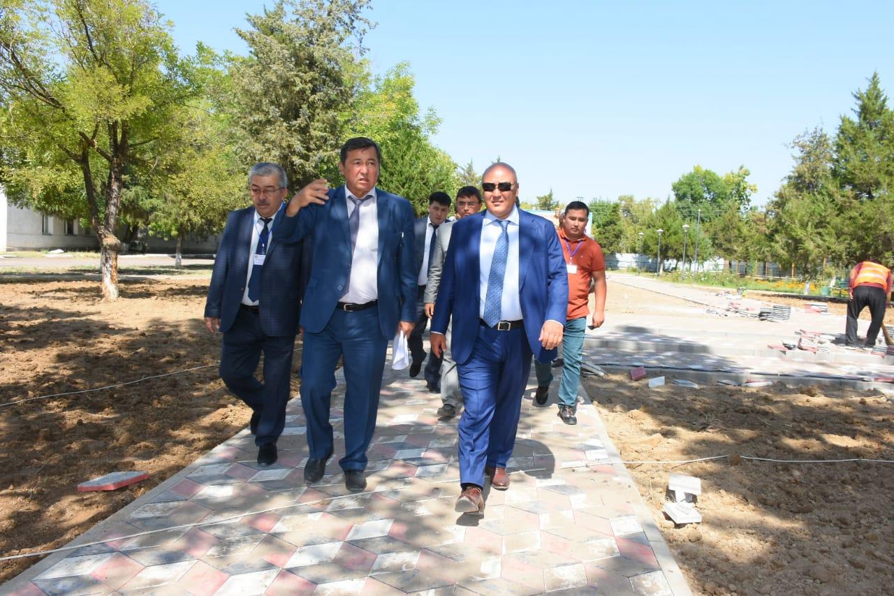 Түркістан облысында аспан астындағы ашық бассейннің құрылысы жүріп жатыр