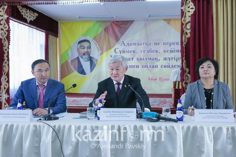 Бердібек Сапарбаев алматылық мұғалімдермен кездесті
