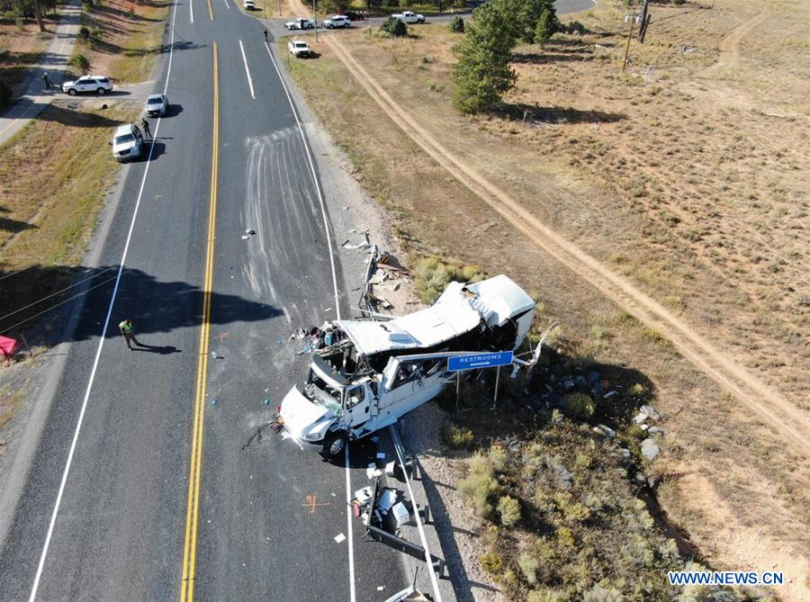 At least four Chinese speaking tourists dead in tour bus crash in U.S. Utah