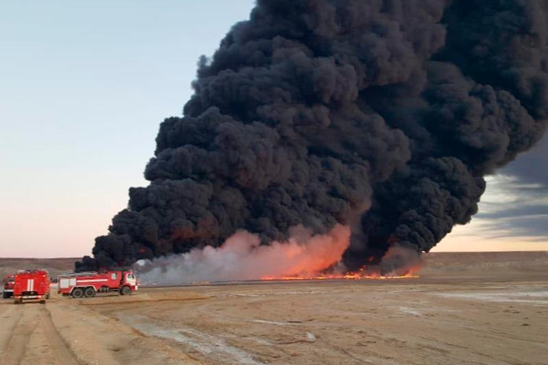 В КЧС прокомментировали распространяющееся видео пожара в Жанаозене
