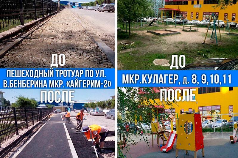 До и после: отремонтированные улицы, дороги и дворы показали в акимате Алматы