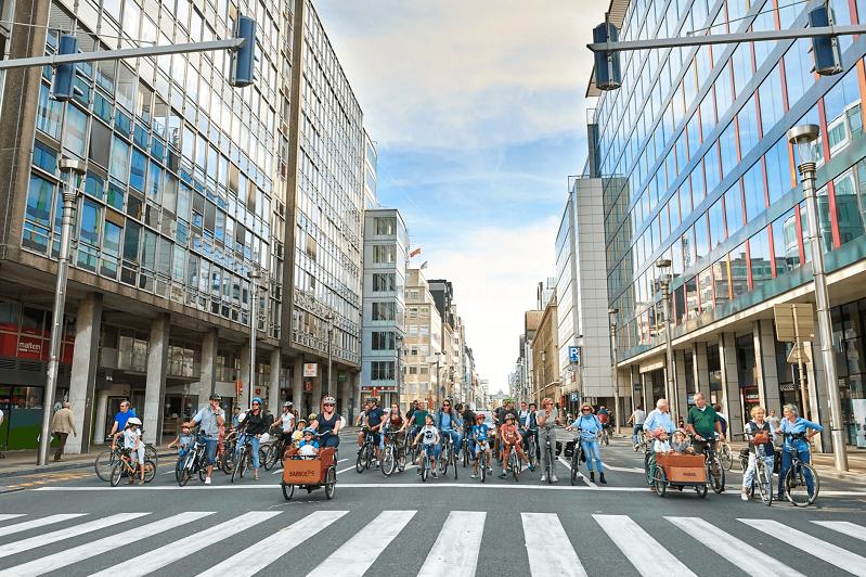 «Воскресенье без автомобиля» проводится в Брюсселе