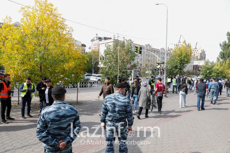 Нұр-Сұлтанның бас полицейі сенбідегі заңсыз шеруде ұсталғандар жайында айтты