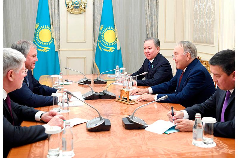 Нурсултан Назарбаев провел переговоры со спикером Госдумы РФ