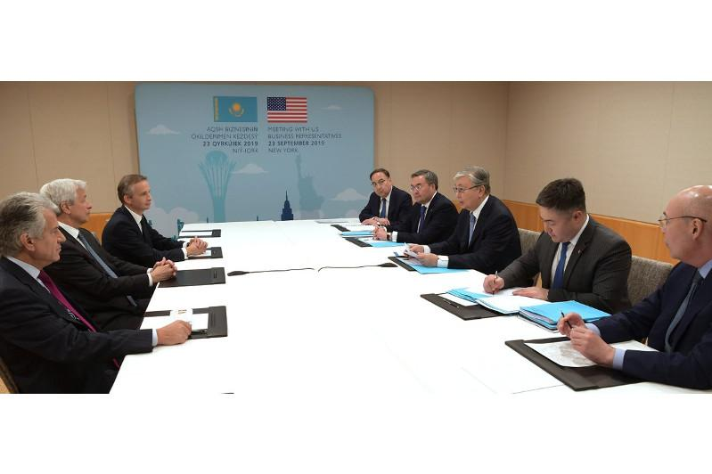 На встрече с капитанами бизнеса США состоялся конструктивный диалог  - Касым-Жомарт Токаев