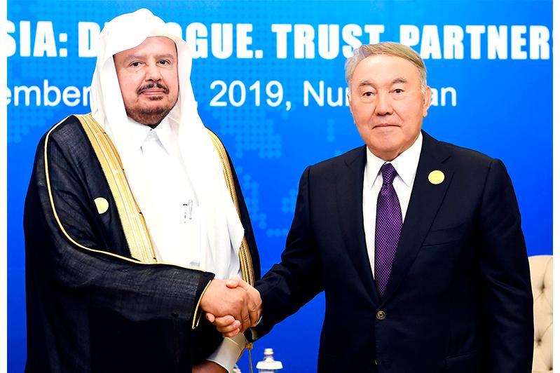纳扎尔巴耶夫会见沙特协商会议主席阿卜杜拉