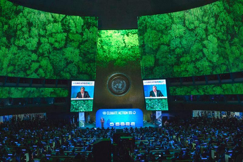 """""""气候行动峰会"""":联合国秘书长呼吁在气候危机将人类终结之前 让其停步"""