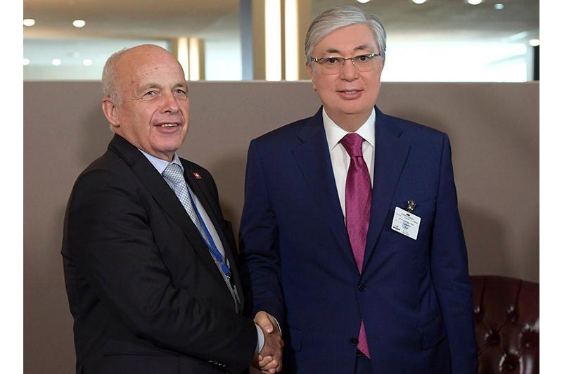 Касым-Жомарт Токаев встретился с президентом Швейцарской Конфедерации Ули Маурером