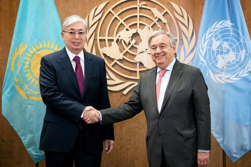 Kazakh President holds talks with UN Secretary General