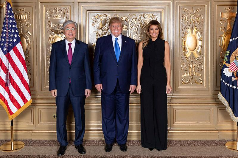 Kassym-Jomart Tokayev, Donald Trump meet in New York
