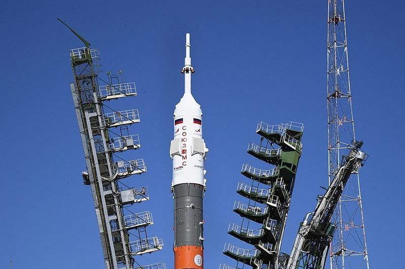 """""""联盟MS-15""""号飞船从拜科努尔航天基地发射升空"""