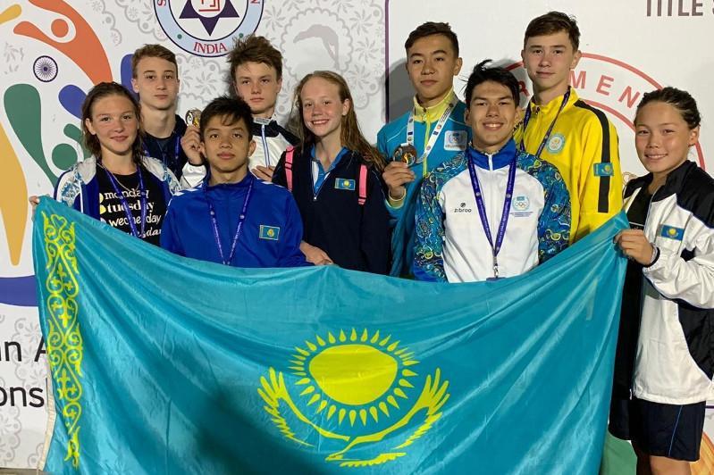 游泳亚青赛:哈萨克斯坦代表团再添4枚奖牌
