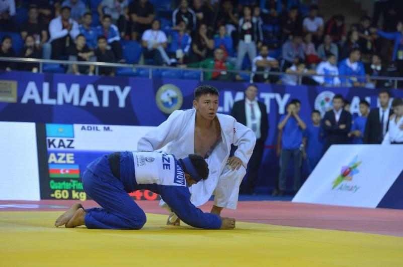 柔道世青赛:哈萨克斯坦代表团再获2枚奖牌
