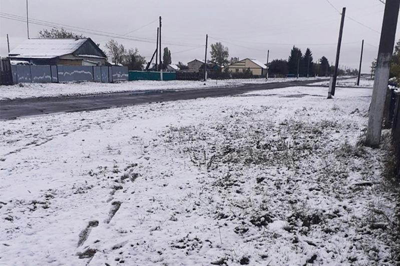First snow arrives in N Kazakhstan
