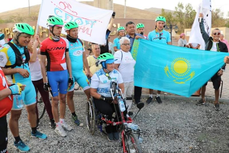 «Almaty-Túrkistan» velomarafony Túrkistan oblysyna kelip jetti
