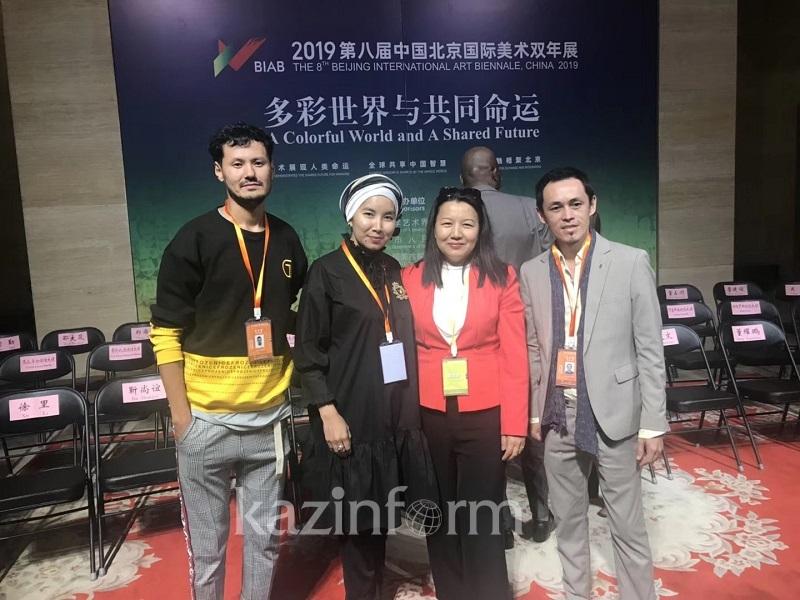 哈萨克斯坦艺术作品在第八届中国北京国际美术双年展展出