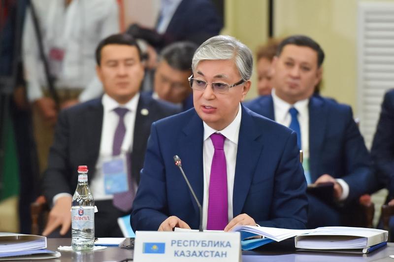 托卡耶夫总统出席欧亚经济委员会最高理事会会议