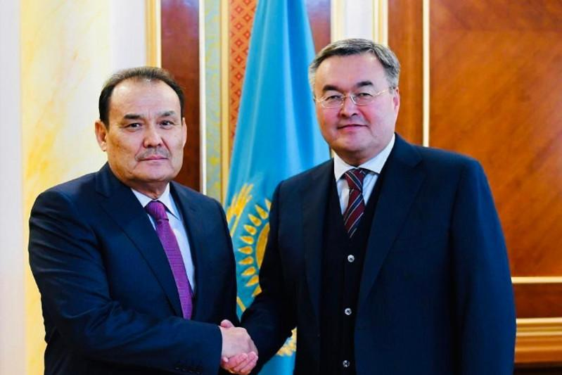 Багдад Амреев и Мухтар Тлеуберди обсудили подготовку к 7-му саммиту Тюркского совета