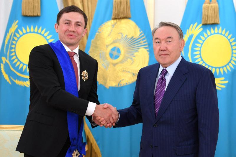 纳扎尔巴耶夫向戈洛夫金致贺信