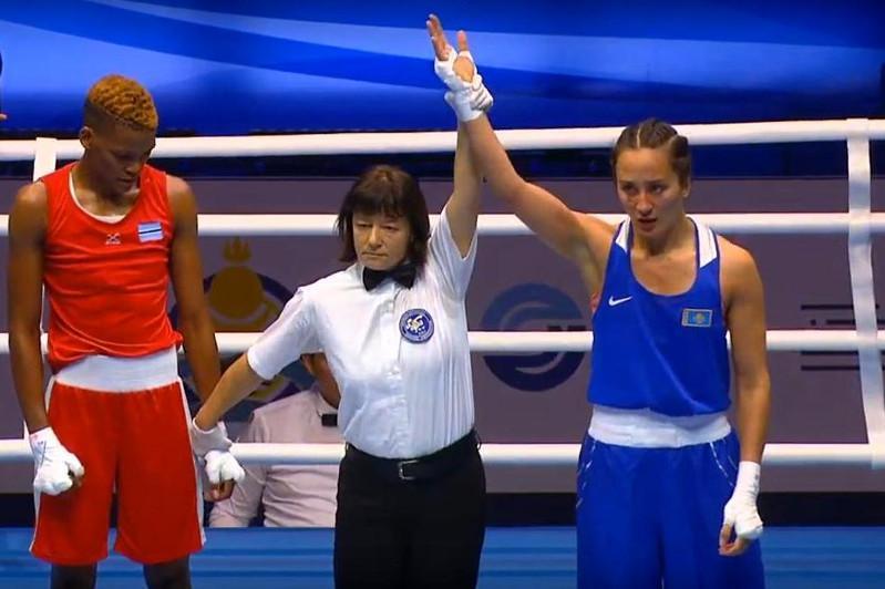 女子拳击世锦赛:米拉娜·萨弗洛娜晋级8强