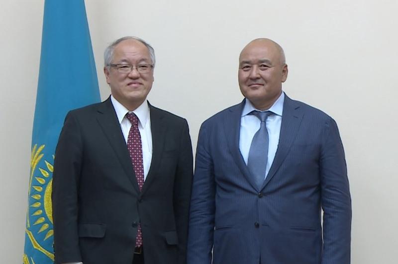Mayor of Turkestan rgn met with Ambassador of Japan
