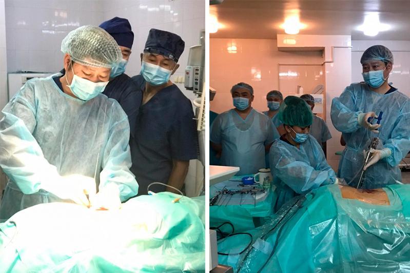 Операции на позвоночнике эндоскопическим методом начали делать в Караганде