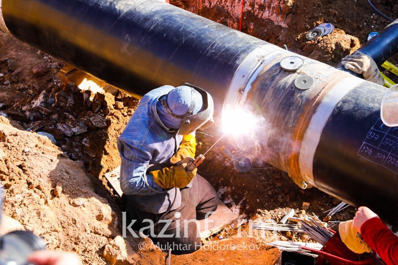 """""""萨热阿尔卡""""天然气管道竣工 年底开始向首都供气"""