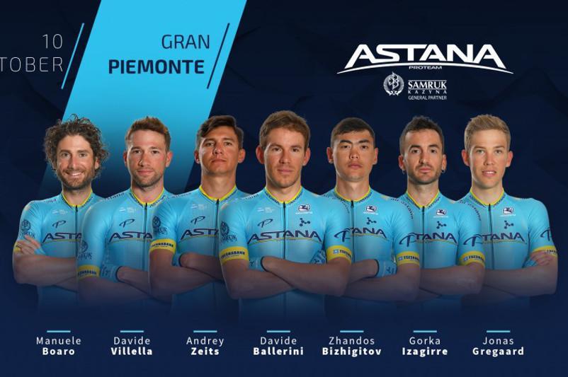 Gran Piemonte 2019. Astana Team's roster