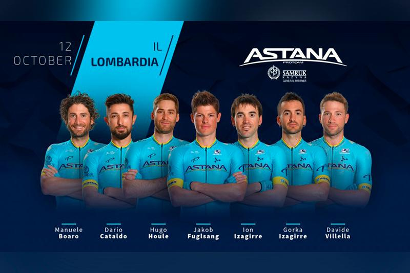 Il Lombardia 2019. Astana announces Team's roster