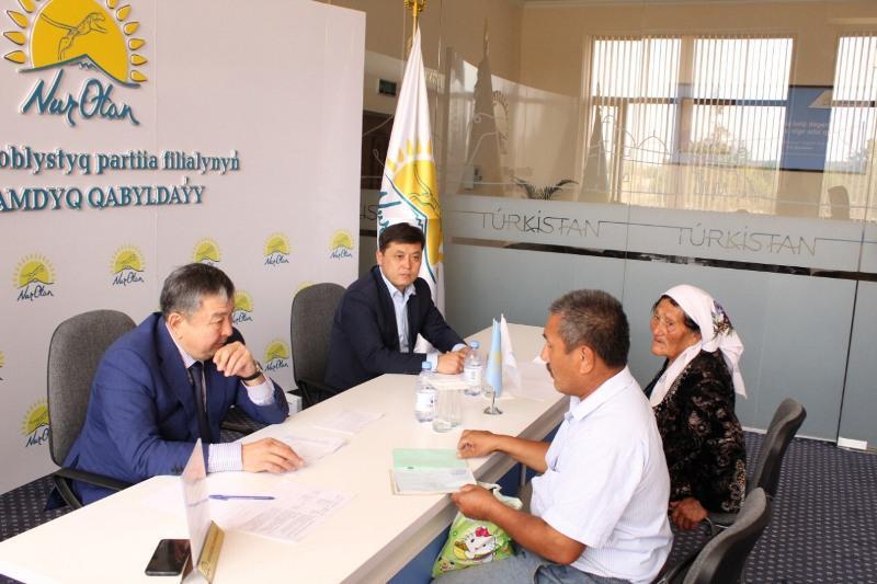 Решить проблемы смогли жители Туркестанской области в Общественной приемной Nur Otan