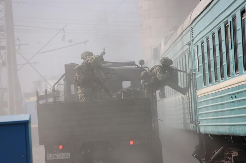 Антитеррористическое учение провели в Таразе