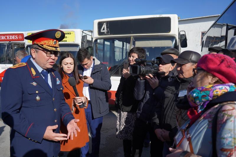 Қостанайдың бас полицейі автобустарды тексерді