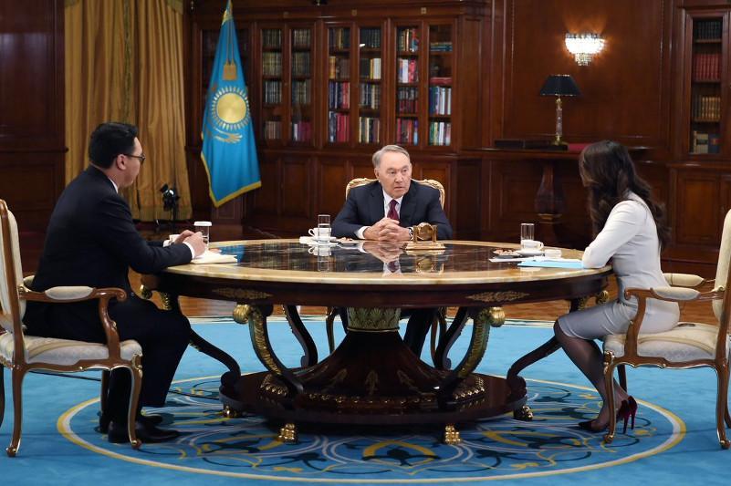 N.Nazarbayev gives interview to Kazakhstani journalists