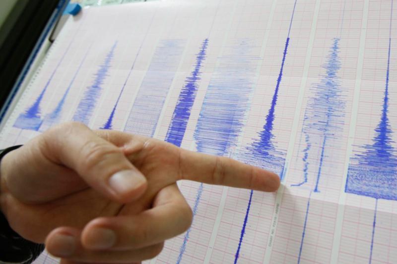 В 546 км на северо-восток от города Алматы произошло землетрясение