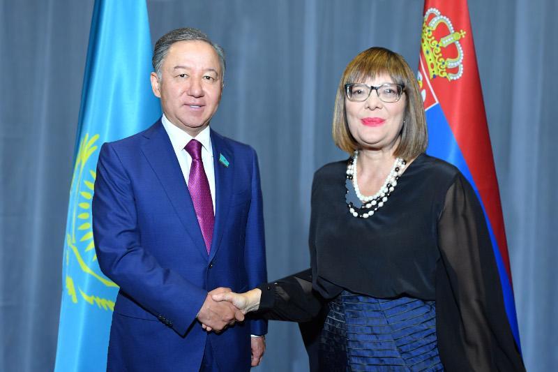 Nyǵmatýlın Belgradta Serbııa Parlamentiniń tóraǵasymen kezdesti