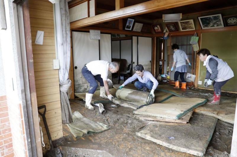 """台风""""海贝思""""造成日本12个都县73人死亡"""