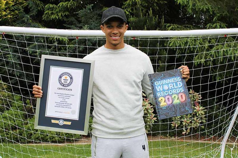 «Ливерпуль» футболшысы Гиннестің рекордтар кітабына енгізілді