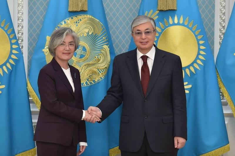Глава государства принял министра иностранных дел Республики Корея