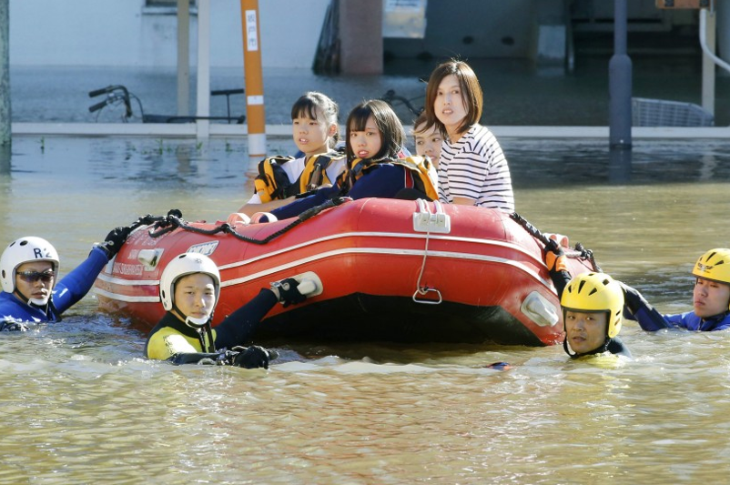 Over 23,000 hecaters of Japan flooded by deadly typhoon