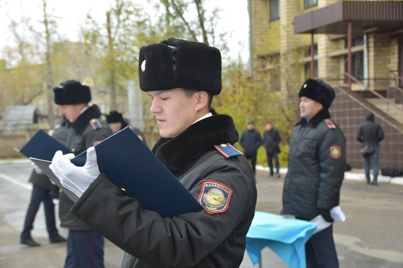 35 молодых полицейских приняли присягу в Караганде